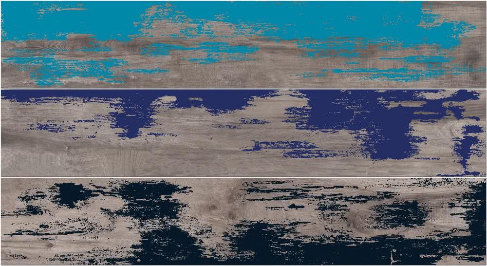 Купить Керамогранит ABK Dolphin List. Grey Enamel Rett Mix3 декор 20x120, Италия