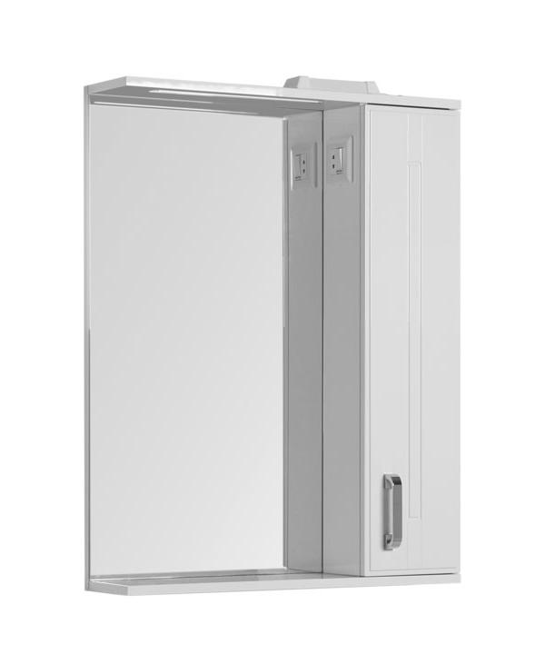 Купить Зеркальный шкаф Aquanet Рондо 70 белый 00189162, Россия