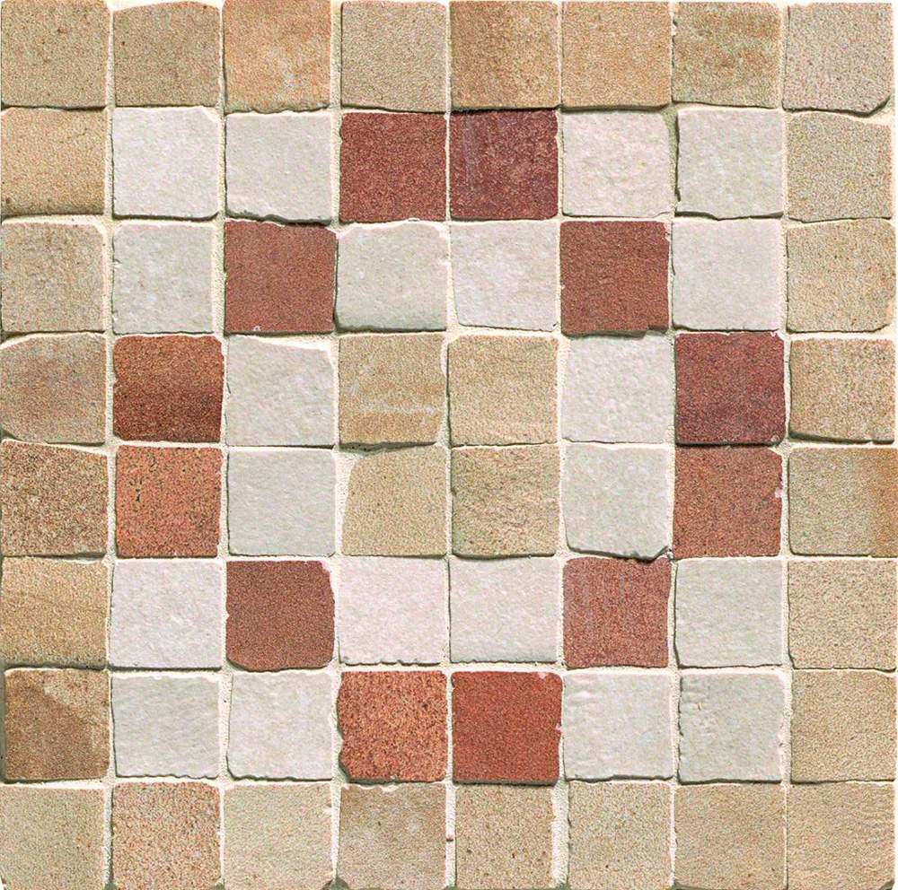 Купить Керамогранит Fap Firenze Heritage 24055 Deco Terra Angolo Fascia Mosaico мозаика 15x15, Италия
