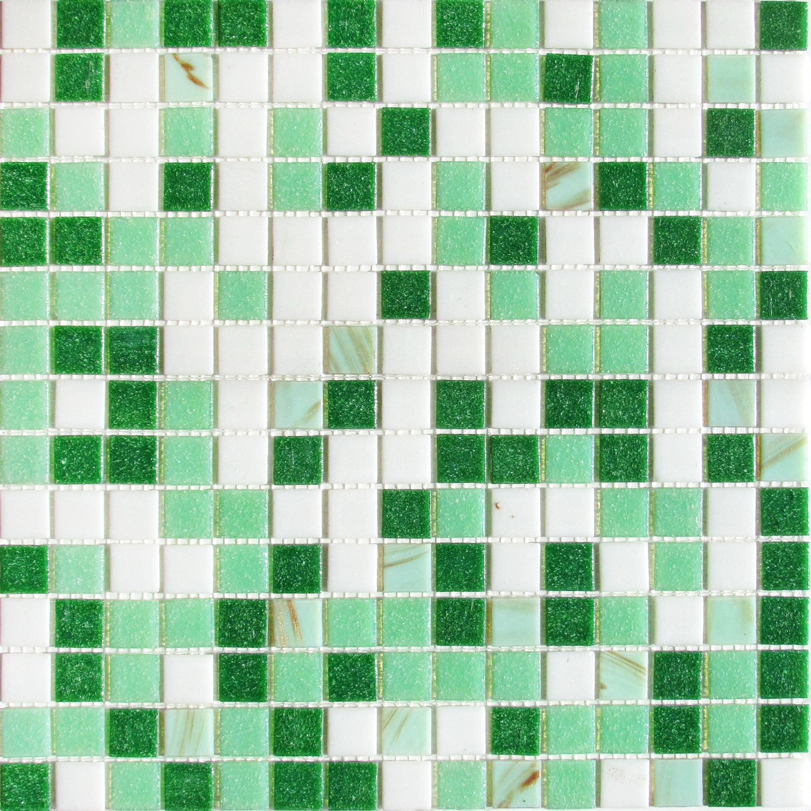 Купить Стеклянная Мозаика China Mosaic Grass (4х20х20) 32, 7х32, 7, Китай