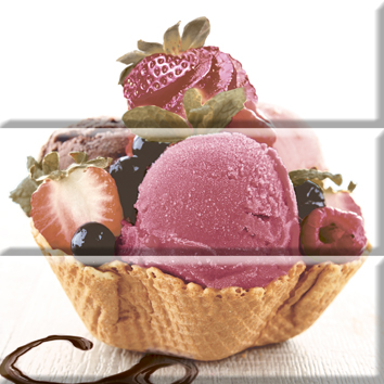 Керамическая плитка Absolut Keramika Composicion Ice Cream Панно (из 3-x пл.) 30x30