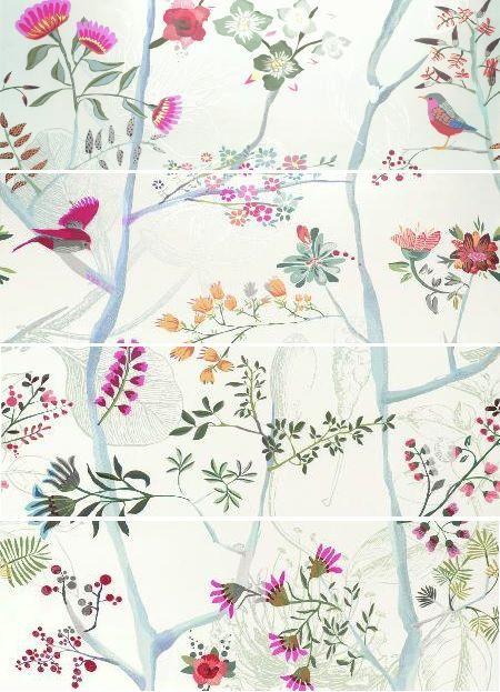 Купить Керамическая плитка Fanal Albi Blanco Garden панно (из 4х шт) 126, 4x90, Испания