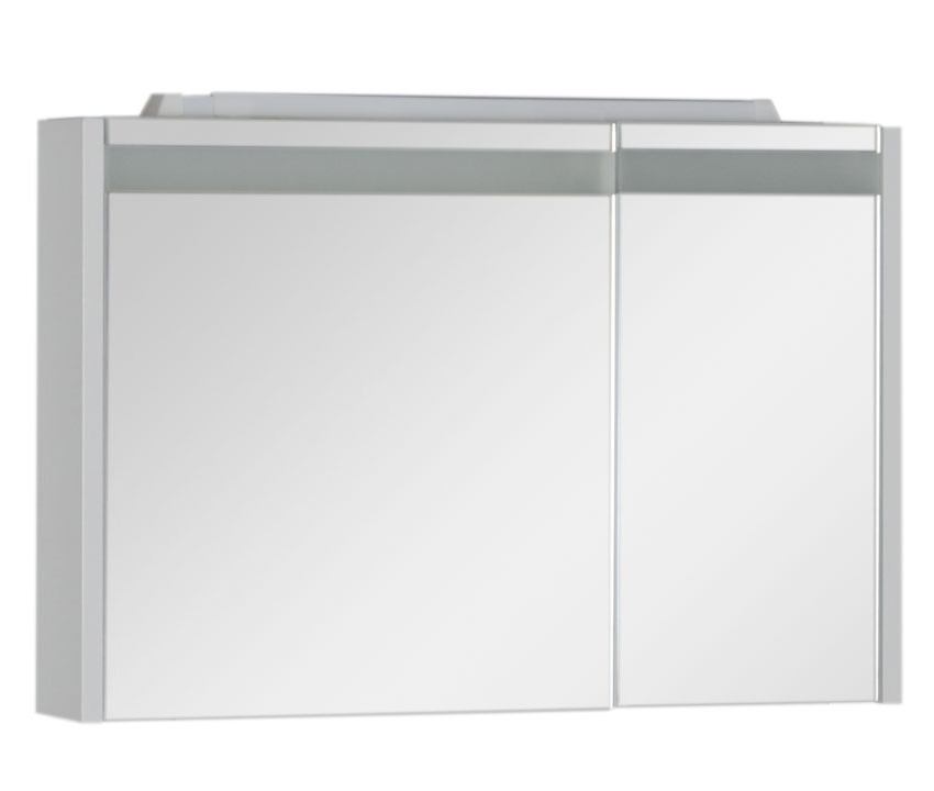 Купить Зеркальный шкаф Aquanet Лайн 90 левый белый 00165582, Россия
