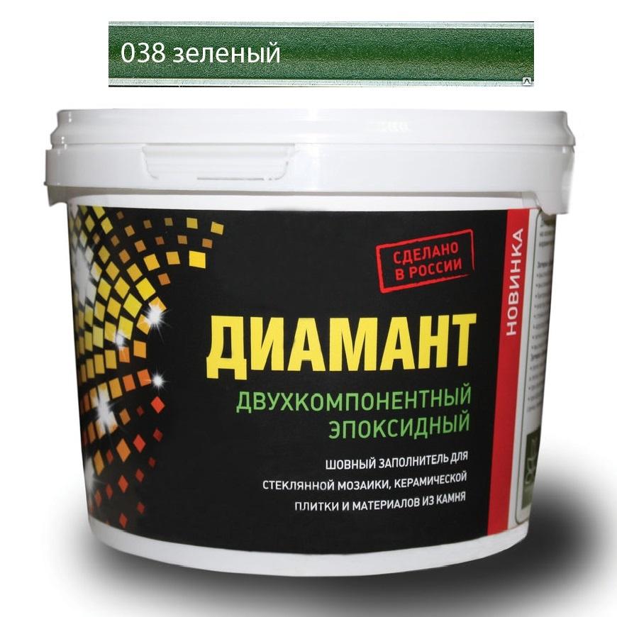 Купить Затирка Диамант эпоксидная Зеленый 038 1 кг, Россия