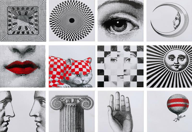Купить Керамическая плитка Bardelli Fornasettiana Be 20 Декор (комп/12шт) 20x20, Италия