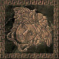 Купить Керамогранит Versace Marble Nero 240383 Tozetto Medusa Lev Декор 14, 4х14, 4, Италия