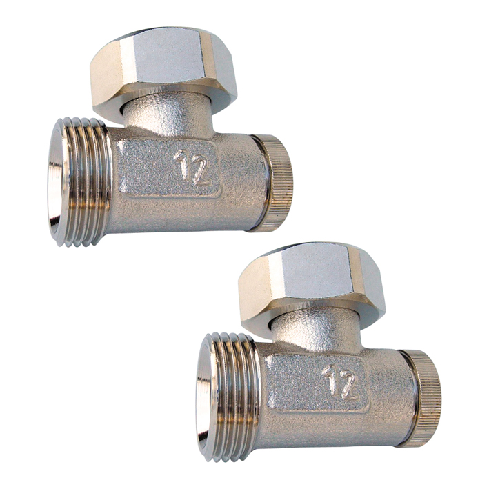 Купить Комплект Запорных Клапанов Herz Rl-1 Угловой G3/4 Для Подключения Радиаторов Monolit, Alum Ventil