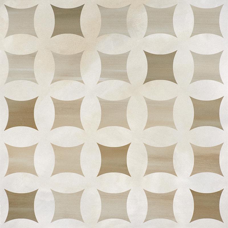 Купить Керамогранит Serra Camelia 511 Decor Cappucino & Pearl White напольный 60x60, Турция