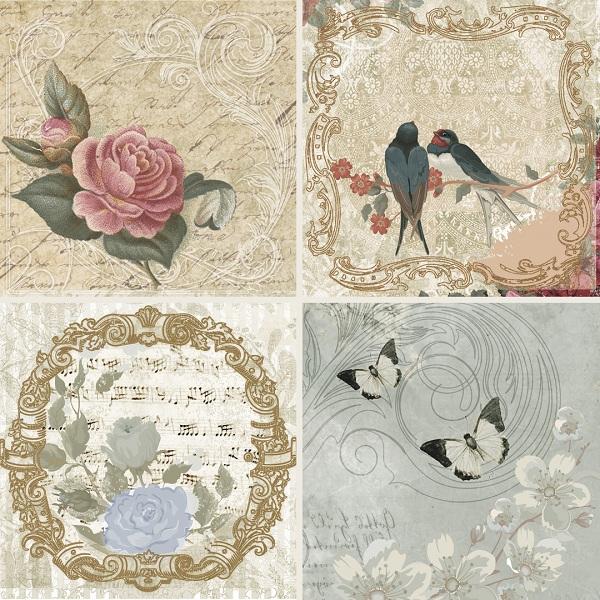 Купить Керамическая плитка Absolut Keramika Monocolor Set Mei A (4pzs) Панно 10x10, Испания