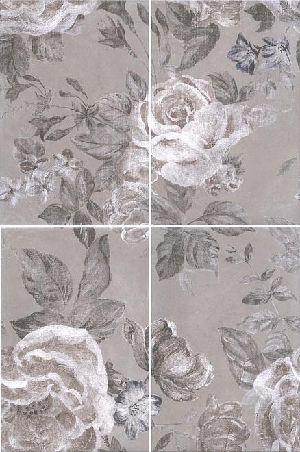 Купить Керамическая плитка Kerama Marazzi Александрия серый 8272/4x/3F (К-т из 4-х шт) Панно 40x60, Россия