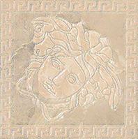 Купить Керамогранит Versace Marble Beige 240384 Tozetto Medusa Lev Декор 14, 4х14, 4, Италия