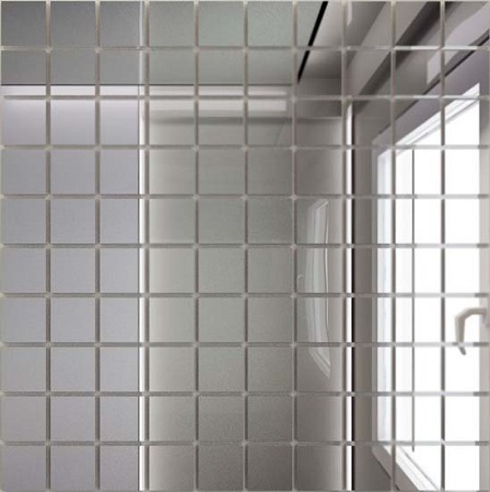 Купить Мозаика зеркальная Серебро С25 ДСТ 25 х 25/300 x 300 мм (10шт) - 0, 9, Россия