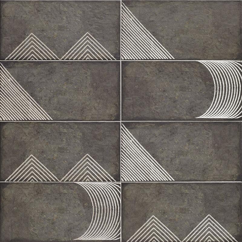 Купить Керамическая плитка Mainzu Rivoli Alpe Black Настенная 15x30, Испания