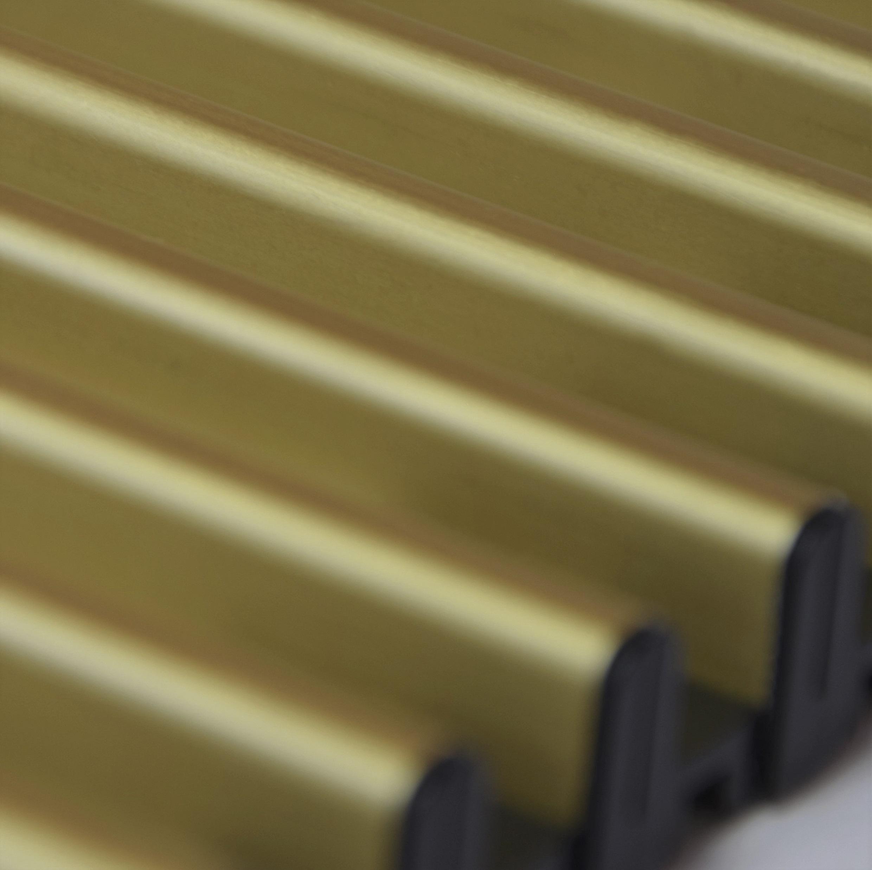 Купить Декоративная решетка Mohlenhoff светлое золото, шириной 260 мм 1 пог. м Россия