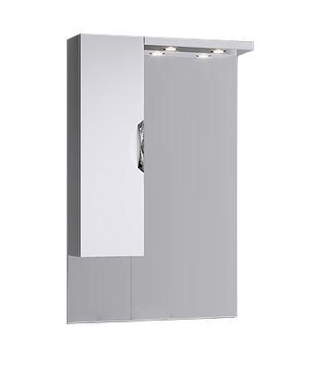 Купить Зеркало Aqwella ЭкоЛайн 70 со шкафчиком и подсветкой, белый Eco-L.02.07, Россия