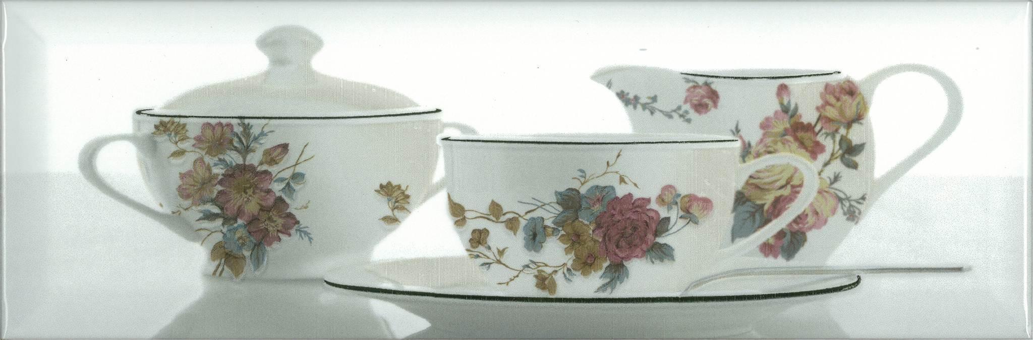 Купить Керамическая плитка Absolut Keramika Decor Tea 03 White A декор 10x30, Испания