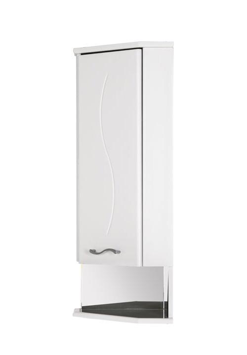 Купить Шкаф Aquanet Моника 35 подвесной правый угловой белый 00186781, Россия