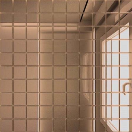 Купить Мозаика зеркальная Бронза Б25 ДСТ 25 х 25/300 x 300 мм (10шт) - 0, 9, Россия