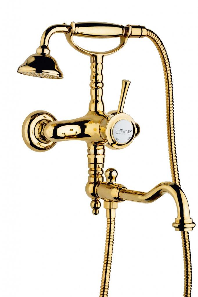 Купить Смеситель для ванны и душа Cezares Giubileo золото GIUBILEO-VDFM2-03/24, Италия