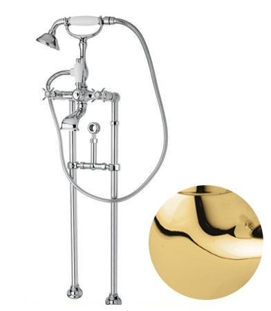 Купить Смеситель для ванны и душа Cezares Lord золото LORD-VDPS-03/24, Италия