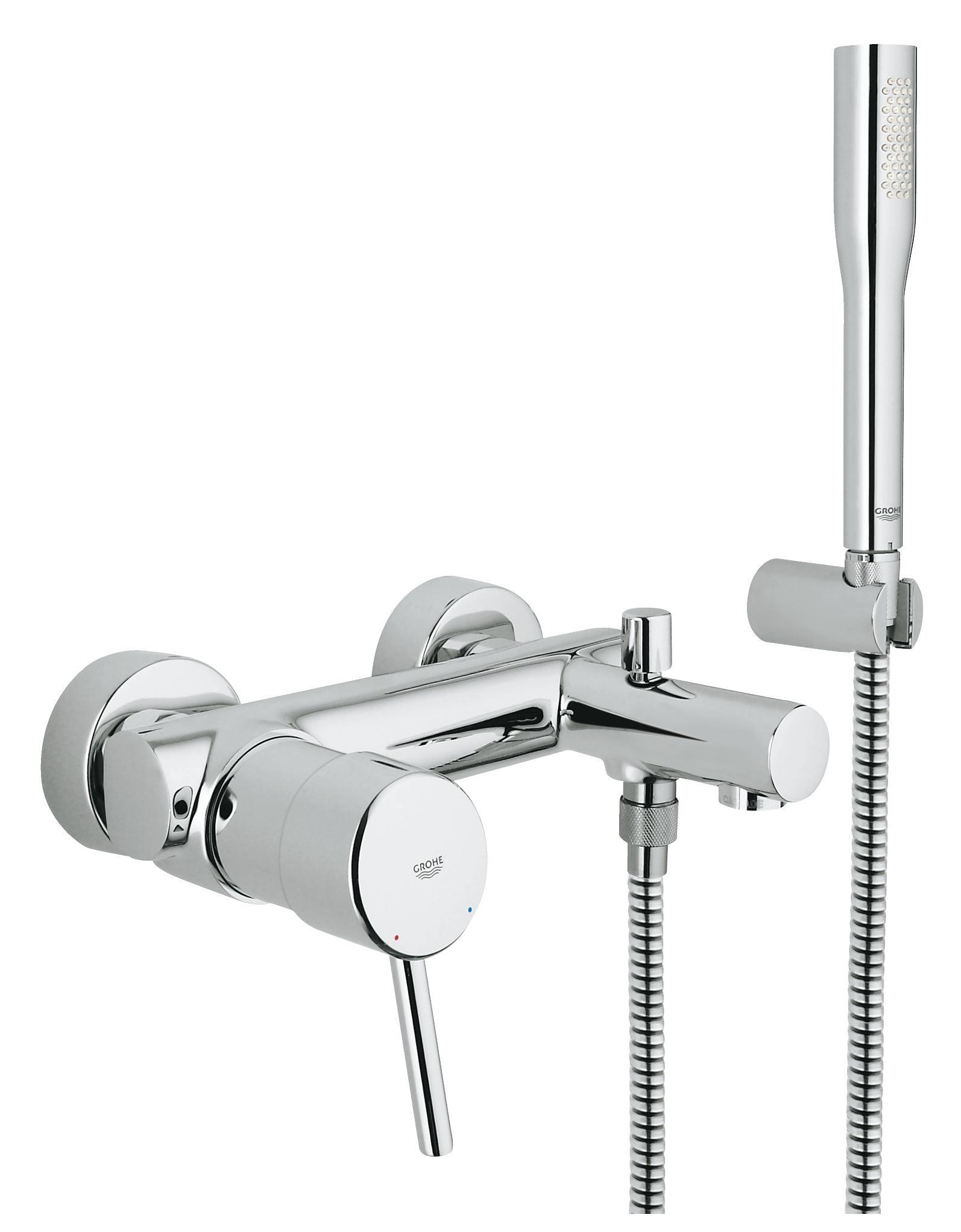 Купить Смеситель для ванны и душа Grohe Concetto с душевым гарнитуром 32212001, Германия