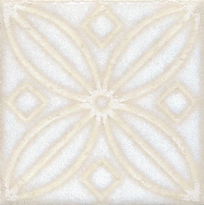 Купить Керамический гранит Kerama Marazzi Амальфи Орнамент Белый STG/B402/1266 Декор 9, 9x9, 9, Россия