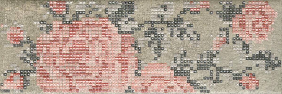 Купить Керамическая плитка Serenissima Docklands Inserto Flowers Grey S/1 Декор 8, 6x26, Италия