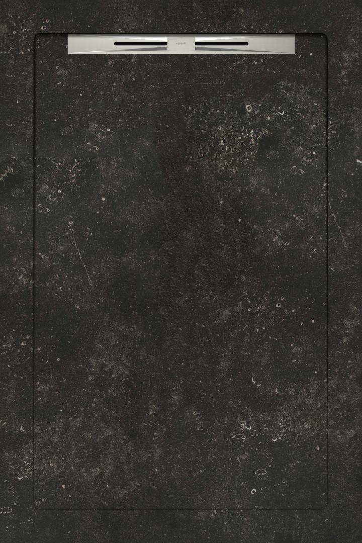 Душевые поддоны Aquanit Belgium Stone Black Slope Line 80x120