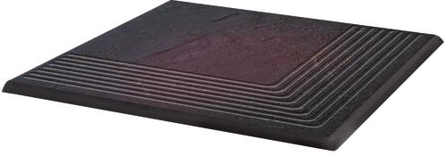 Купить Керамическая плитка Grupa Paradyz Semir Rosa Ступень угловая рифленая наружная структурная 30х30, Польша
