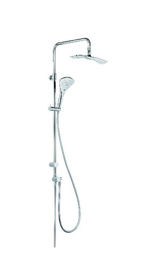 Душевая колонна с ручным и верхним душем Kludi Fizz хром 6709105-00