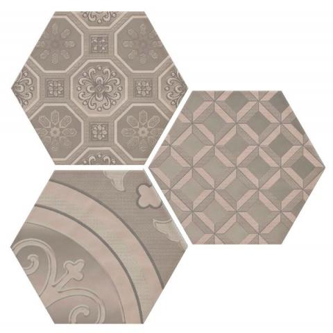 Купить Керамическая плитка Cifre Dec. Vodevil Vison 3 шт/компл Декор 17, 5x17, 5, Cifre Ceramica, Испания