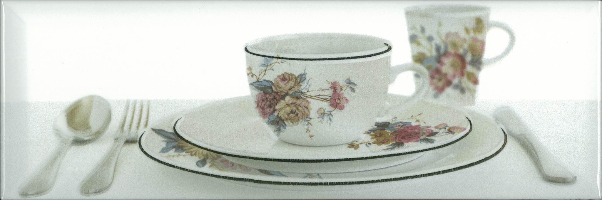 Купить Керамическая плитка Absolut Keramika Decor Tea 03 White B декор 10x30, Испания