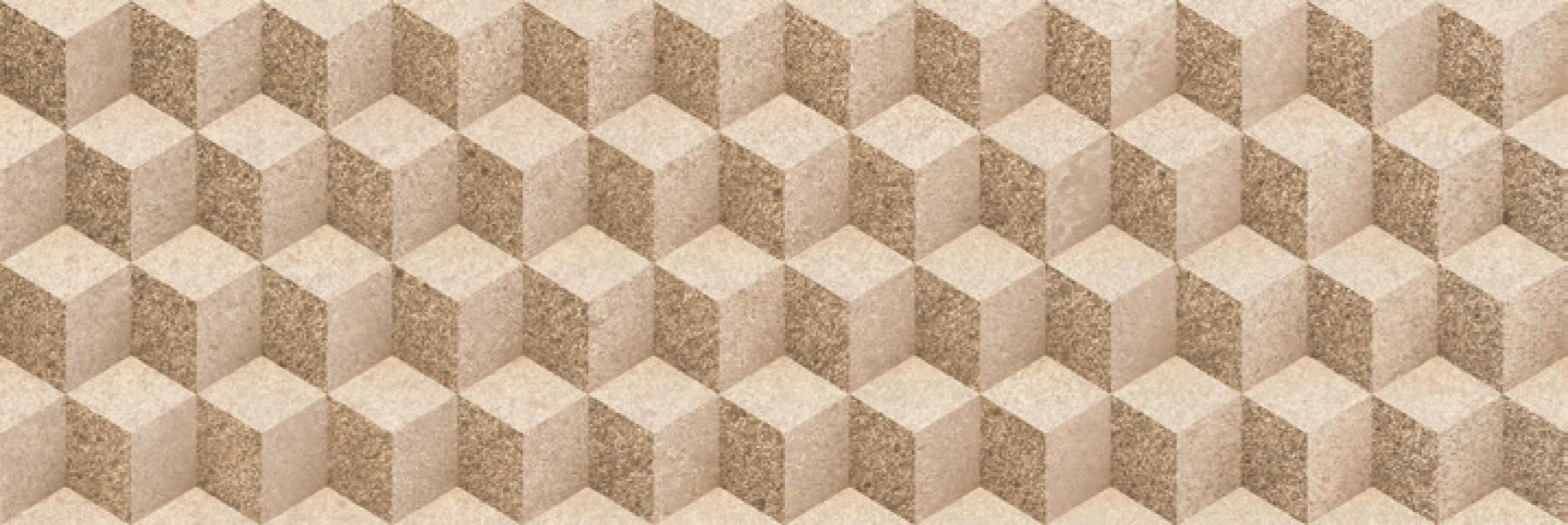 Купить Керамическая плитка Porcelanite Dos 7514 Relieve Beige настенная 25х75, Испания