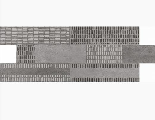 Купить Керамическая плитка Naxos Living Rock Rev. Brick Charcoal настенная 10, 5x40, Италия