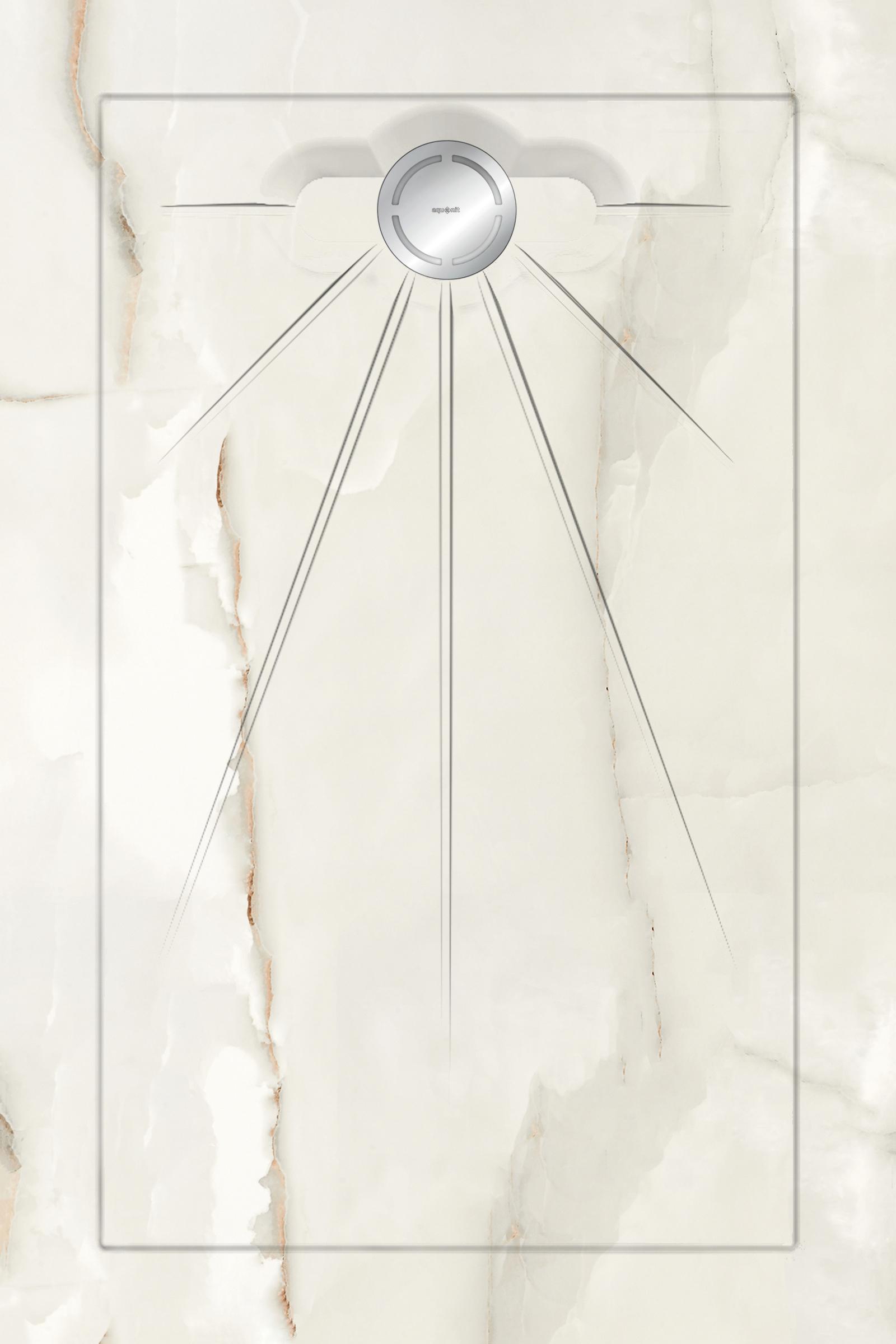 Душевые поддоны Aquanit Marble White Multi Circle Massive 90x135