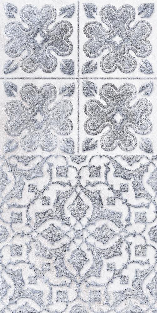 Купить Керамическая плитка Кампанилья Декор 2 серый 1641-0094 20х40, Lb-Ceramics, Россия