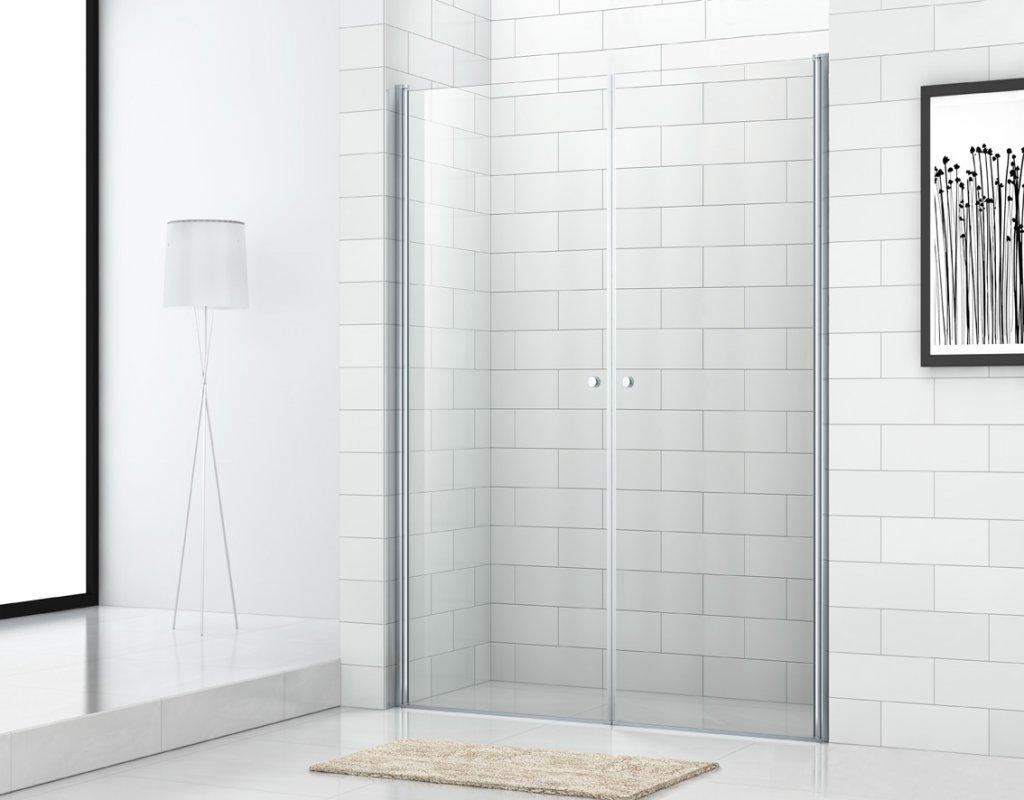 Купить Душевая дверь в нишу CEZARES ECO-O-B-2 1900x800 (матовое стекло) Хром, Италия