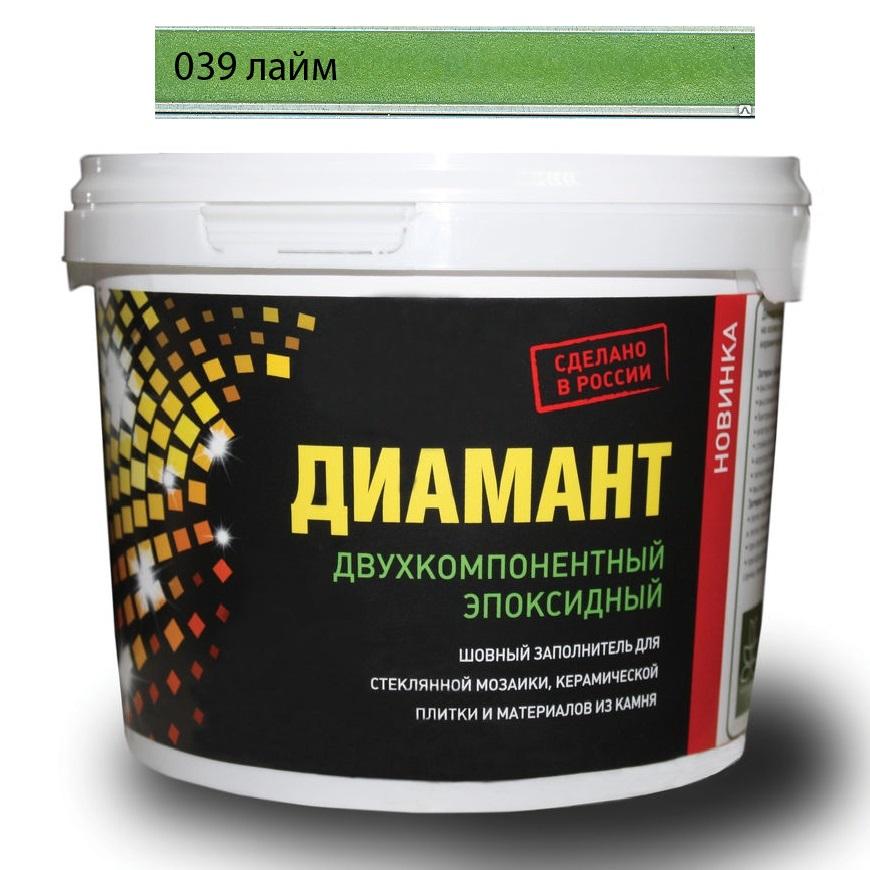 Купить Затирка Диамант эпоксидная Лайм (светло-зеленый) 039 2, 5 кг, Россия