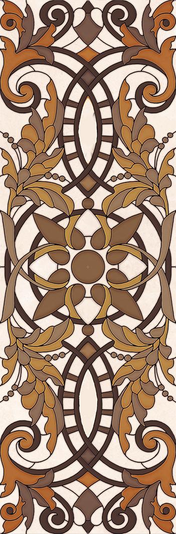 Купить Керамическая плитка Ariana beige Декор 02 30х90, Gracia Ceramica, Россия