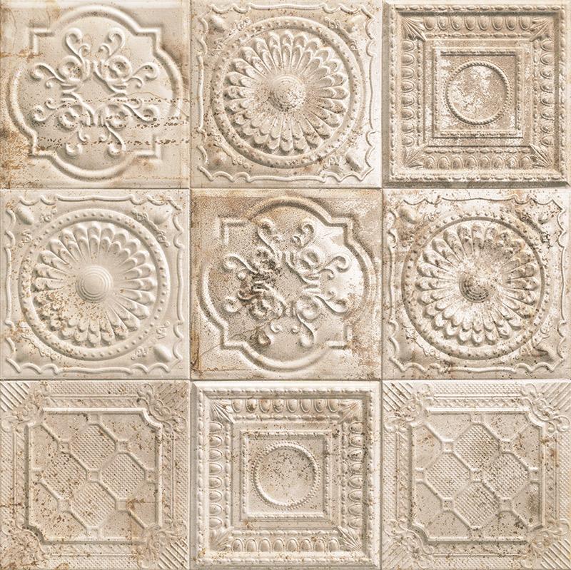 Купить Керамическая плитка Mainzu Tin-Tile Rusty Cream (Mix без подбора) настенная 20х20, Испания