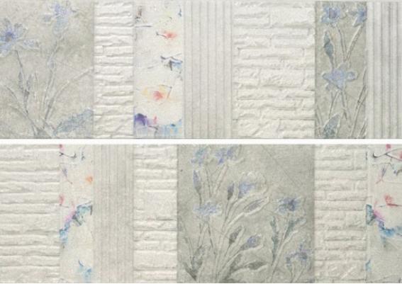 Купить Керамическая плитка Porcelanite Dos 2216 Blanco Nature II (компл. из 2 шт) декор 22, 5х67, 5, Испания