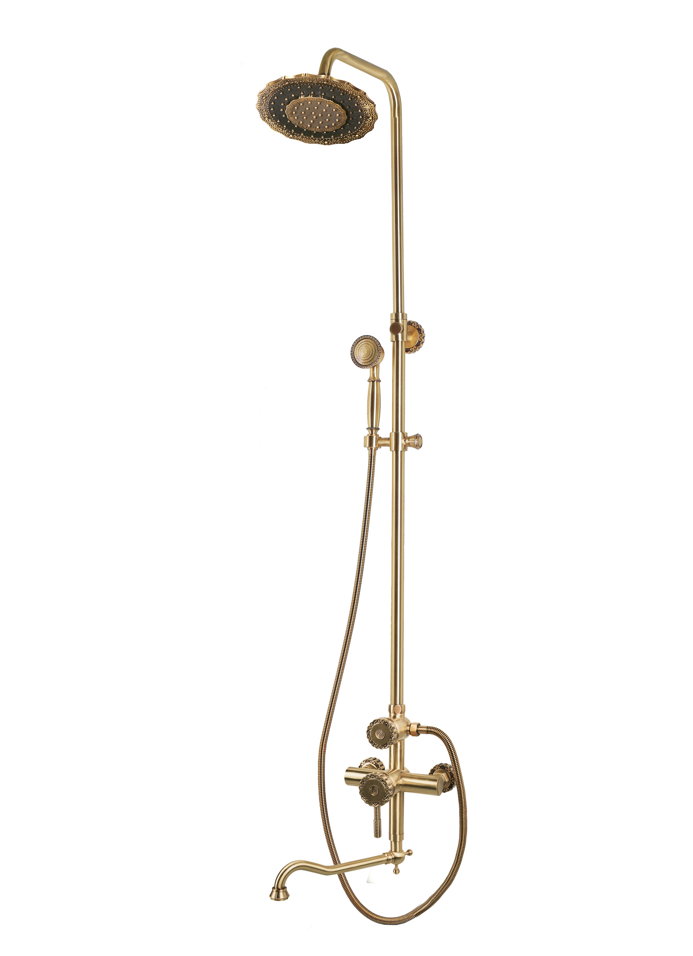 Комплект для ванны и душа Bronze de Luxe WINDSOR 10120DDF