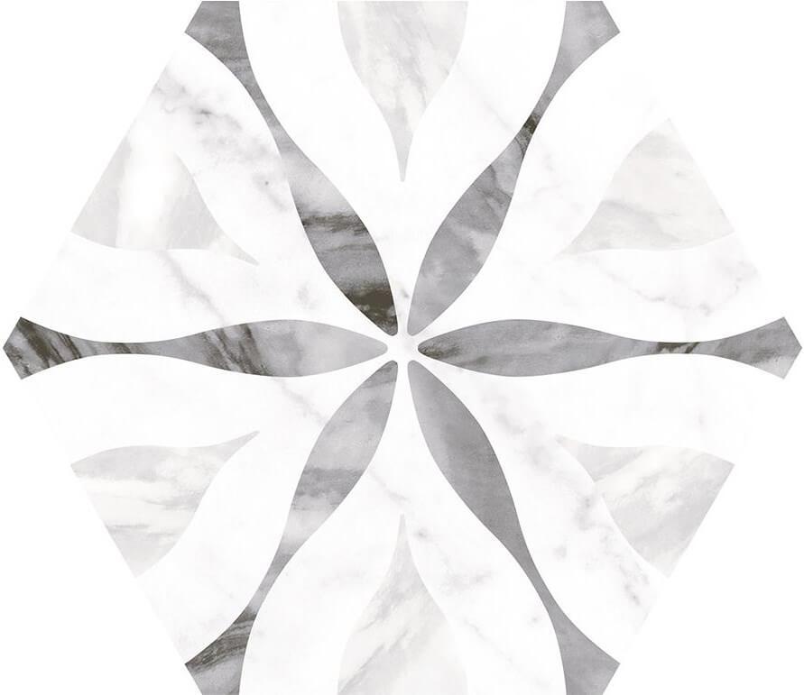 Купить Керамогранит Equipe 23772 Bardiglio Hexagon Flower 17, 5х20, Испания
