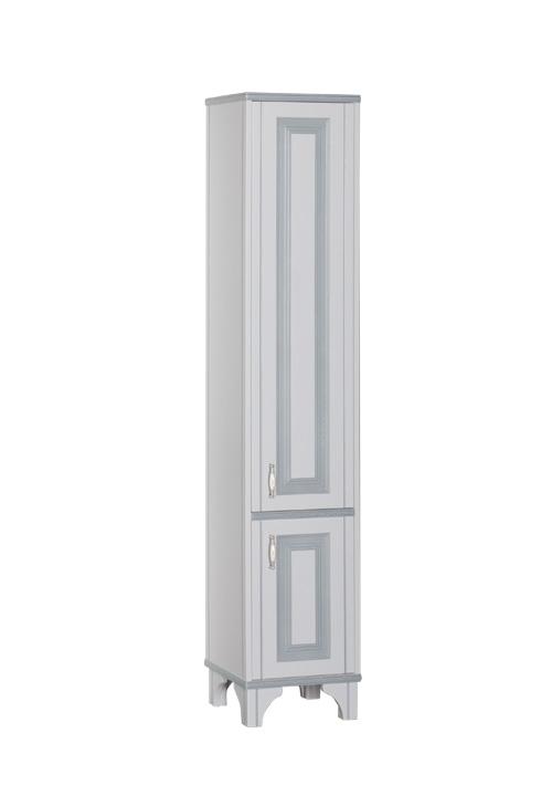 Купить Пенал Aquanet Валенса 40 напольный белый краколет/серебро 00180041, Россия