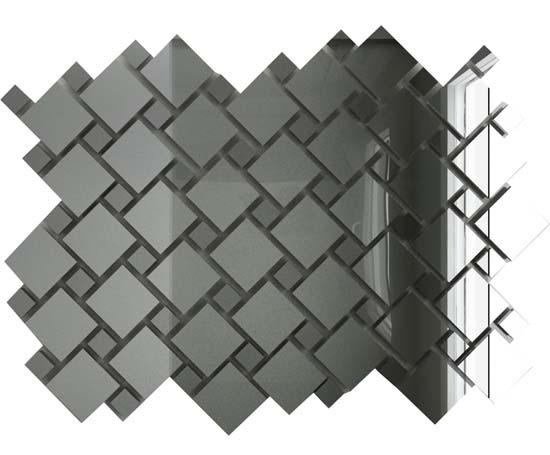Купить Мозаика зеркальная Серебро + Графит С70Г30 ДСТ с чипом 25х25 и 12х12/300 x 300 мм (10шт) - 0, 9, Россия