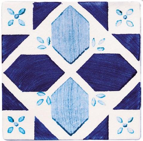 Купить Керамическая плитка Cevica Provenza Dec. Castellon Azul (Blanco) CE78 Декор 13x13, Испания