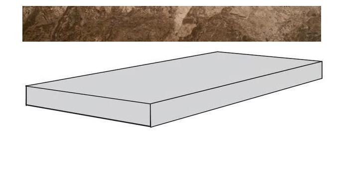 Купить Ступень Seranit Fossil Brown Full Lappato угловая 33x120, Турция