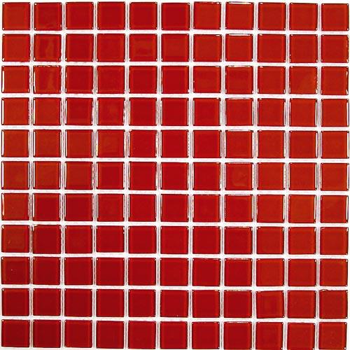 Купить Стеклянная Мозаика China Mosaic Red glass (4x25x25) 30x30, Китай
