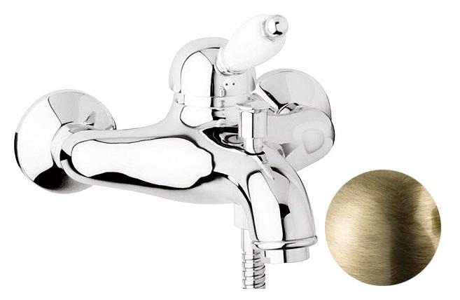 Купить Смеситель для ванны и душа Cezares Elite бронза, ручка орех ELITE-VM-02-Nc, Италия