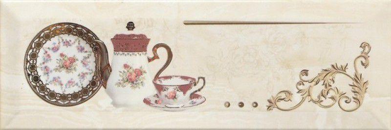 Купить Керамическая плитка Monopole Petra Decor Pranzo Gold B декор 10х30, Испания